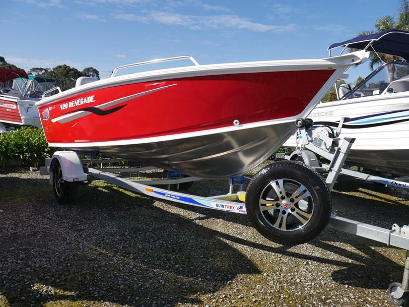 Quintrex 420 Renegade Ts - Tiller Steer - JV Marine, Melbourne