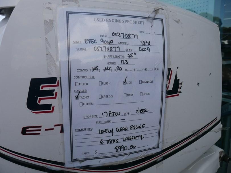 90HP EVINRUDE ETEC OUTBOARD