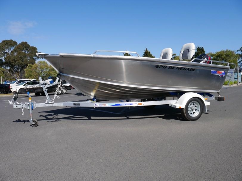 Quintrex 420 Renegade Ts Tiller Steer Jv Marine Melbourne