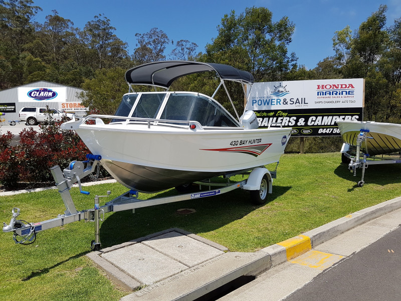 Clark Bay Hunter 430 with trailer and 30HP Honda outboard