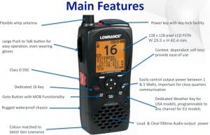 VHF HH RADIO,LINK-2,DSC,AUS/NZ