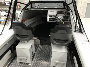 Bar Crusher 670C Plate Aluminium Cuddy Cabin