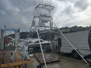 Game fishing tower stainless