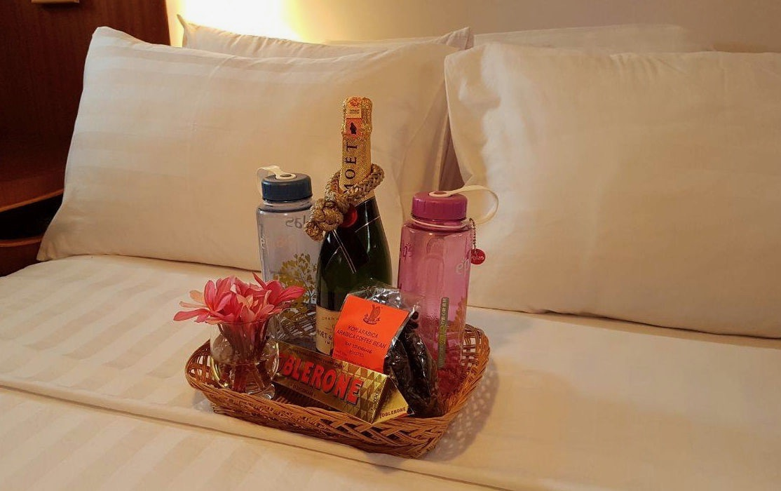 Welcome basket of local treats await your arrival!