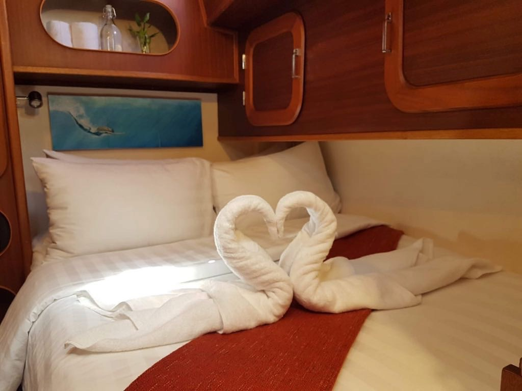 The Port forward Stateroom with private ensuite & lots of storage
