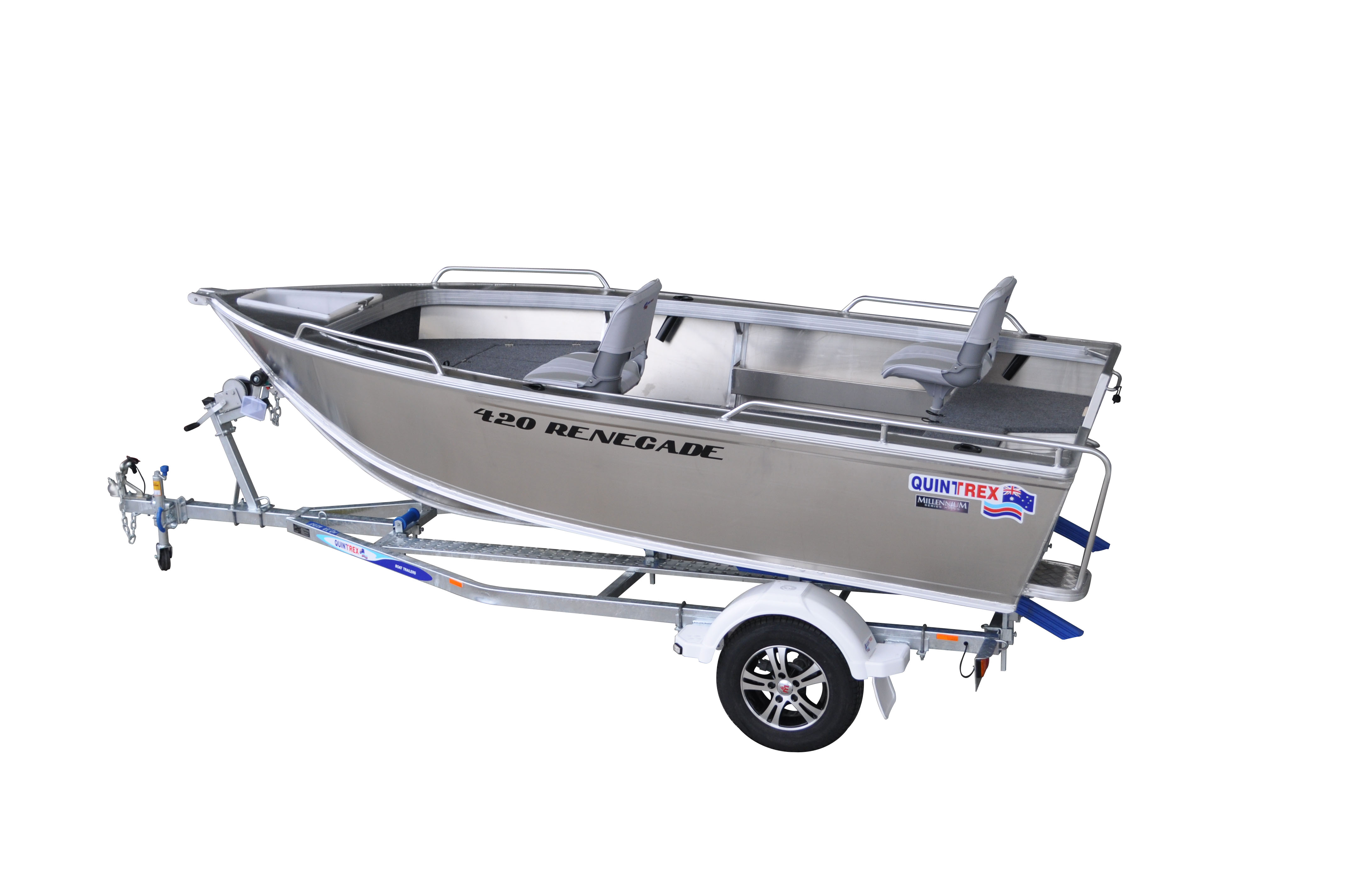 NEW 2018 QUINTREX 420 RENEGADE SC SPORTS WITH EVINRUDE 50HP
