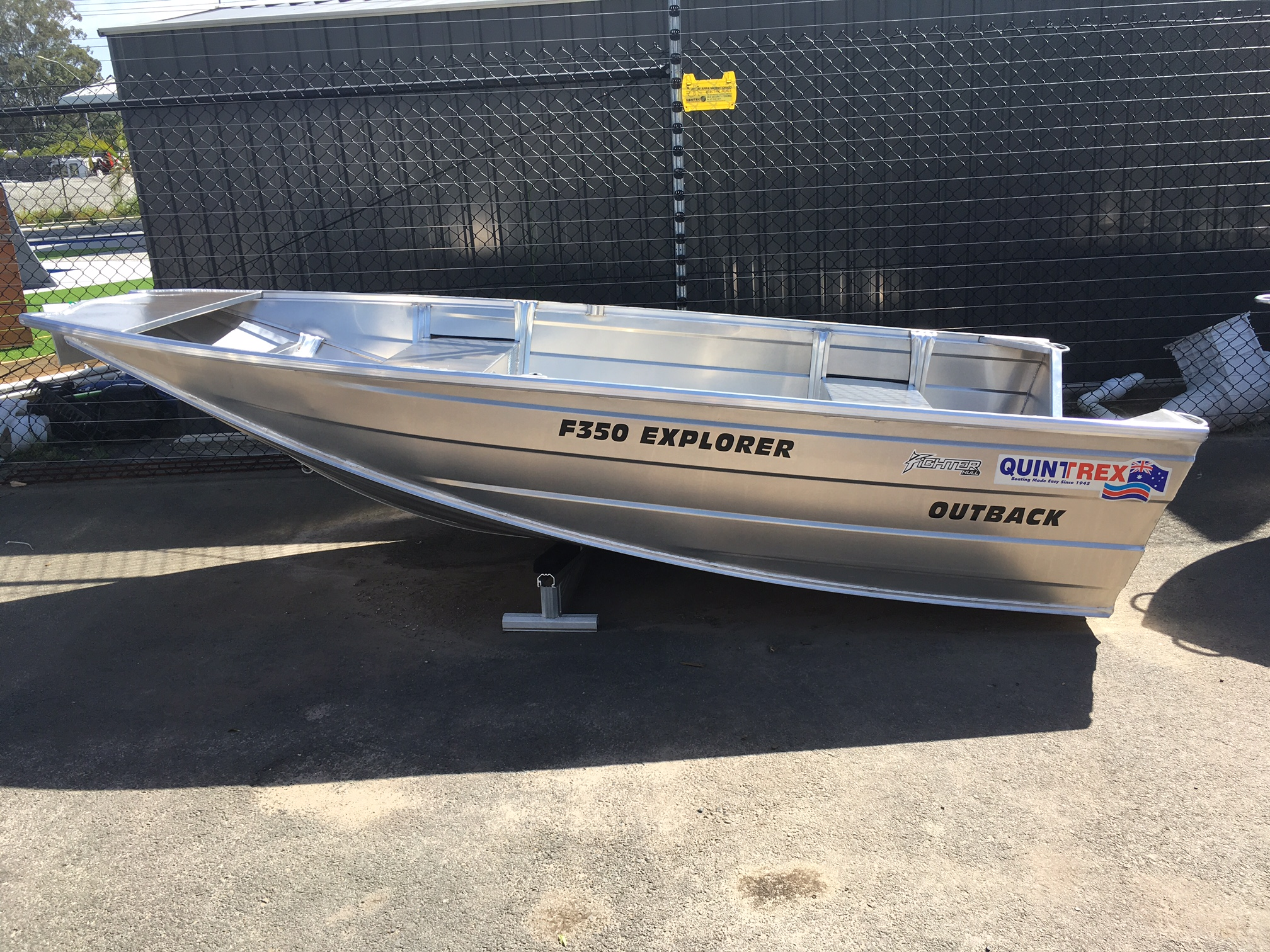 NEW QUINTREX F350 OUTBACK EXPLORER WITH 15HP 4 STROKE