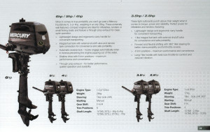 BRAND NEW MERCURY PORTABLE 2 STROKE OUTBOARD MOTORS - Heavily reduced whils stocks last - limited numbers!