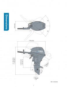 F20LWPB Yamaha 4 Stroke 20hp Long Shaft, Electric Start, Power Trim