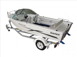 Brand new Savage 415, 435, 455, 485, 515 and 545 Bay Cruiser aluminium Runabouts.