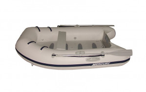 Brand new Mercury 250 Airdeck inflatable boat with heat welded seams.