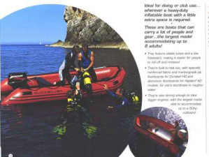 Brand new top quality Mercury Heavy Duty inflatable boats.