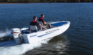 Brand new Savage 405, 425 and 445 Raptor Pro deluxe V-Punt open aluminium boats.