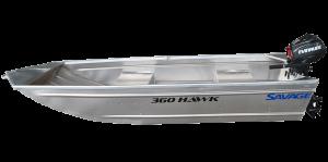 Brand new Savage 300, 320 and 360 Hawk aluminium boats in stock.