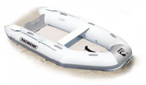 Brand new Nordik 290 Airdeck inflatable boat with welded seams reduced from $2349 to $2049 with a free boat cover!