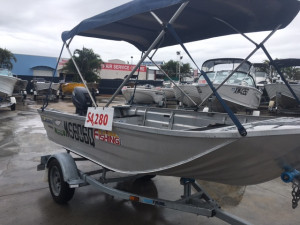 USED 2001 HORIZON V NOSE PUNT WITH 15HP YAMAHA FOR SALE