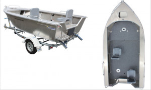 Brand new Horizon 4.65m Easy Fisher PRO deluxe tiller steer aluminium boat.