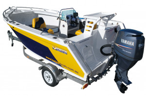 Brand new Horizon 515 Northerner Deluxe side console aluminium boat.