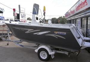 Brand new Horizon 540 Pacific centre console aluminium boat.