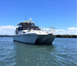 Ocean Trek 528 Flybridge cruising catamaran
