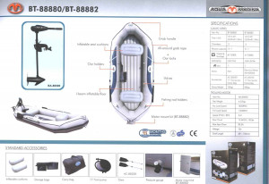 Brand new Aqua Marina 3.05m inflatable boat reduced from $699 to only $499!