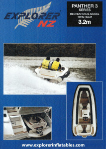 Explorer NZ Panther 320 Jet RIB reduced from $41499 to $34999. - 1 only