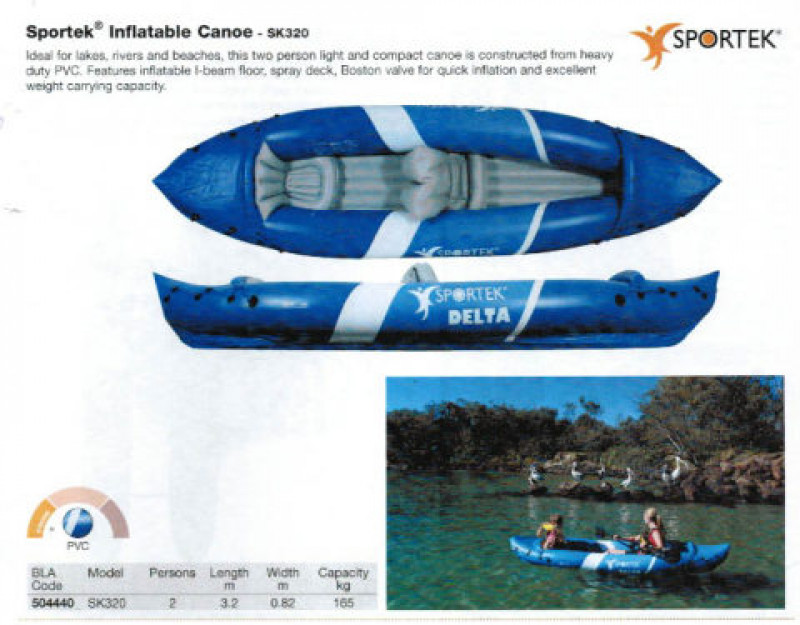 Brand new Sportek SK320 2 person inflatable kayak with 2 paddles for only $229!!!