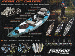 Brand new Feel Free Lure 10 sit on/stand up fishing kayak