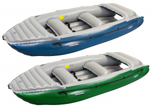 Brand new Gumotex commercial grade hypalon rubber inflatable white water rafts.