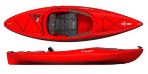 Brand new Dagger Zydeco 9 sit in recreational kayak.
