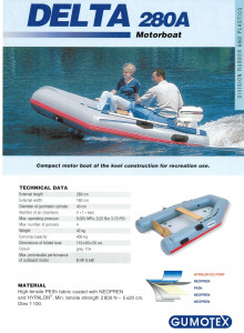 Brand new Gumotex Delta 280 Hypalon Airdeck inflatable boat