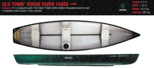 Brand new Old Town Rogue River 15 Canadian square back canoe with 2 free paddles!!!