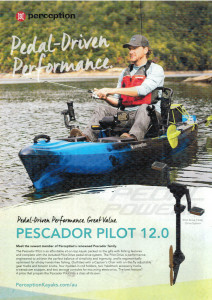 Brand new Perception Pescador Pilot 12.0 Pedal fishing kayak reduced from $2699 to $2399!