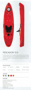 Brand new Perception Pescador 10 sit on top kayak package with all the gear for only $899 - SAVE $317