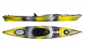 Brand new Wilderness Systems Tsunami 125 touring kayak with rudder.