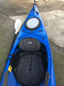Used Dagger Catalyst 12.8 sit in touring kayak with rudder and paddle in excellent condition!
