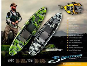 Brand new 3 Waters Big Fish 120 kayak.