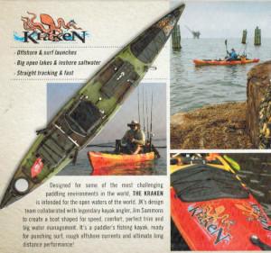 Brand new Jackson Kraken 13.5 fishing kayak.