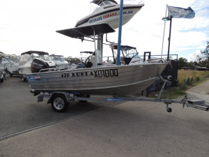 Used Quintrex 420 Busta Centre Console Powered by a Mercury 40 hp EFI  4 stroke
