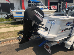 USED 2011 QUINTREX ESCAPE RUNABOUT WITH 2019 MERCURY 80HP EFI 4-STROKE