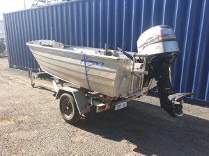 4.2m savage dinghy, trailer and 40hp Mariner 2 stroke