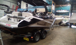 scarab jet boat 215 HO Impulse demo