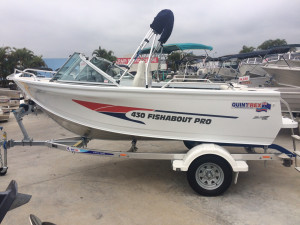 New Quintrex 430 Fishabout Pro Powered by the Yamaha F60  Four Stroke ONE OF OUR STOCK BOATS