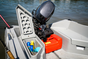 Polycraft 3.00 Tuffy  Tuff Tender Our Pack 5  with a Yamaha F15  Four Stroke