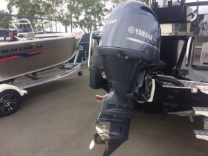 Quintrex 590 Top Ender Pro Our pack 4 powered by a Yamaha F150