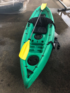 Used Venturer sit on top kayak with brand new paddle and new deluxe backrest for only $299.