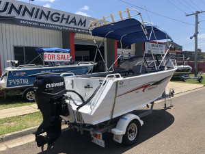 USED 2007 TRAILCRAFT 465 FREESTYLE RUNABOUT WITH 2008 75HP E-TEC (142hrs)