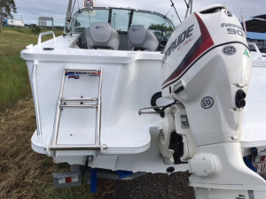 Used Quintrex 490 Fishabout , powered by the Evinrude E-Tec 90 Hp very good clean package