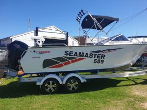 589 Seamaster Stacer, 115hp Pro XS Mercury 4 stroke & alluminum trailer