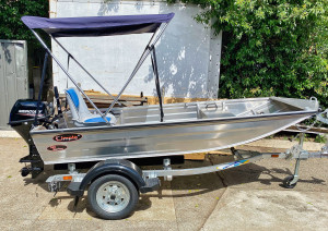Brand new Kimple 350 Mariner V- punt aluminium boat reduced from $2399 to $1899!!!